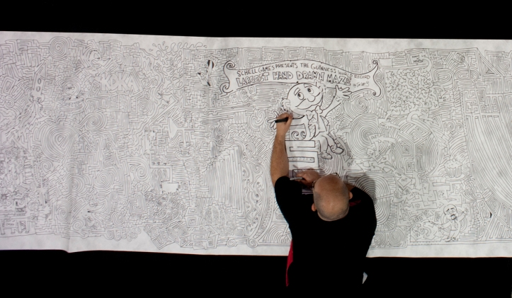 Joe Drawing Maze