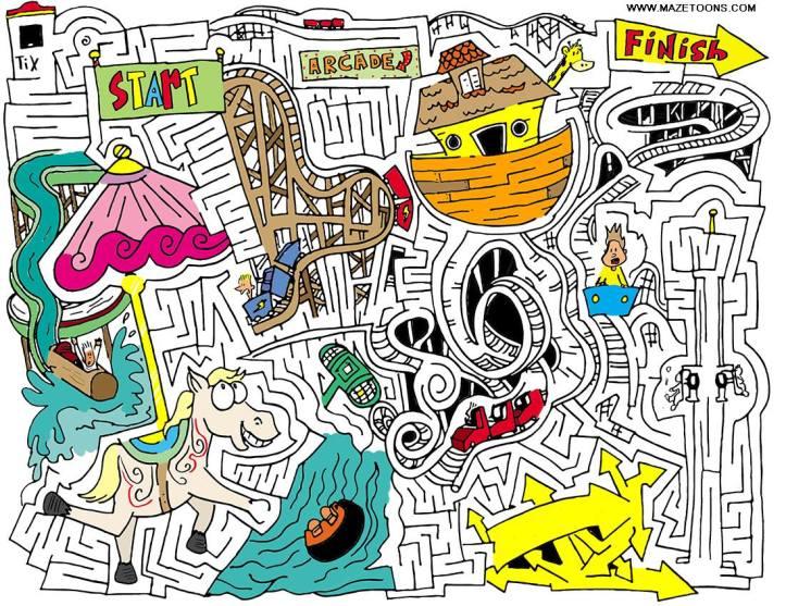 Theme Park MazeToons