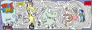 Animals on the move maze
