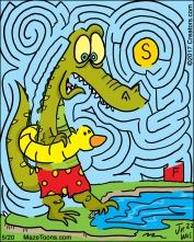 crocodileswim